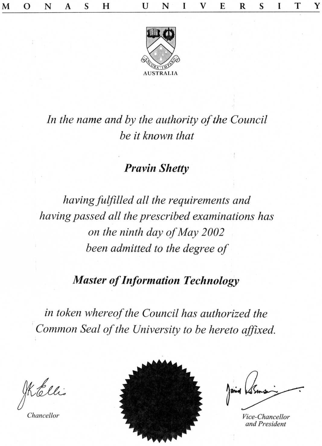 Pravin Shetty Gt Resume